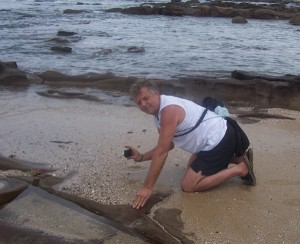 Tony at Kidds Beach 30 Dec 2012