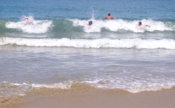 body surfing fun at Cintsa West