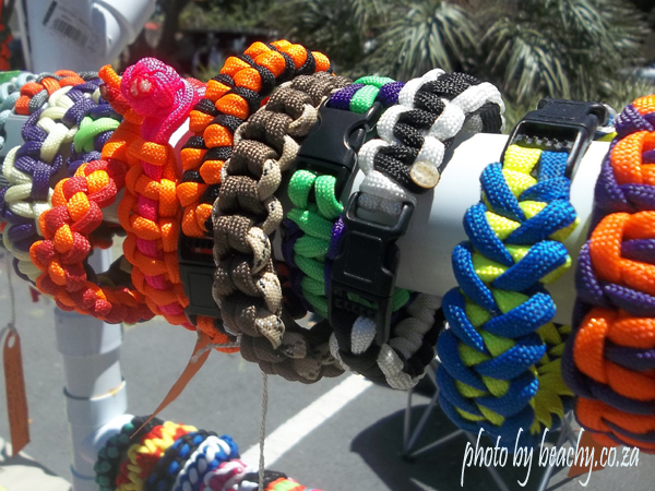 paracord bracelets at Gonubie Main Road market
