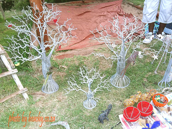 wire trees at Acacia Tree Nursery School market