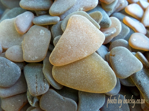 collecting sea glass and sea glass photos is fun - honey amber sea glass pieces and brown sea glass pieces