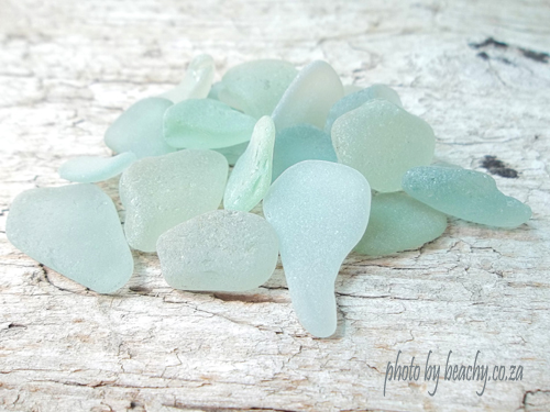 sea foam sea glass bright and pale