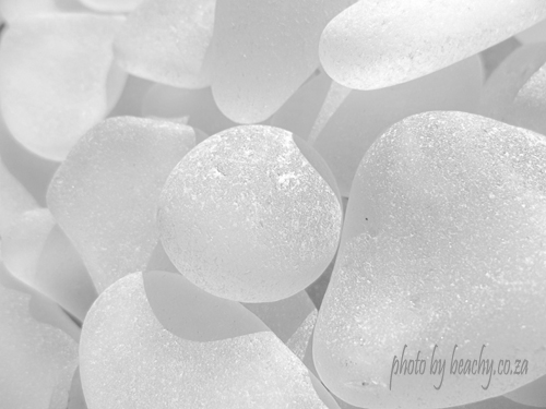 white sea glass pale and simple