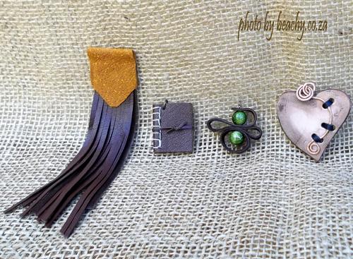 4 leather necklace pendants
