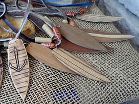 buy wooden surfboard necklaces in South Africa