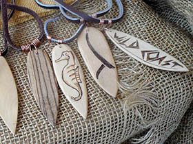 handmade wooden surfboards jewellery