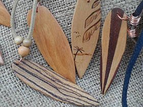 small wooden surfboards