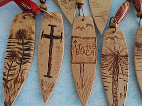 wood surfboard necklaces in South Africa
