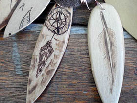 wooden surfboard jewellery