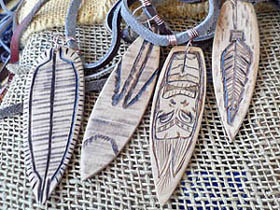 wooden surfboard necklaces for sale in South Africa