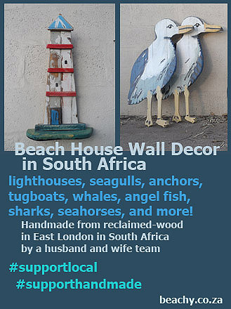 beach cottage wall decor in South Africa