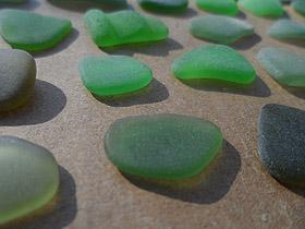green sea glass - ALREADY SOLD