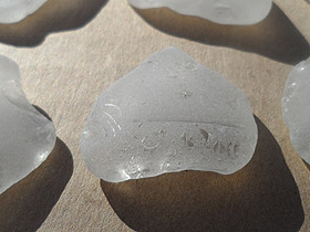 sea glass lot 030719A - white sea glass South Africa