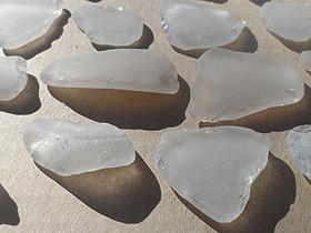 sea glass lot 030719A - white sea glass