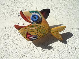 wooden fish wall decor