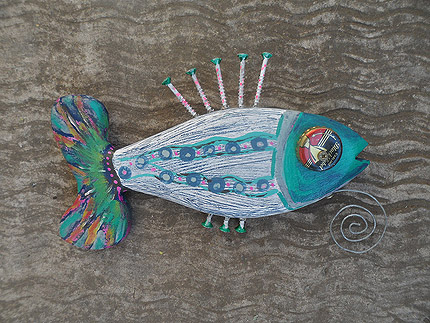 colourful wooden fish wall decor South Africa