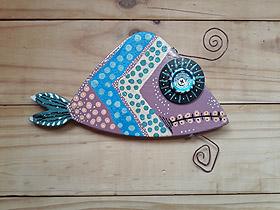 funky fish wall decor - item 090819A