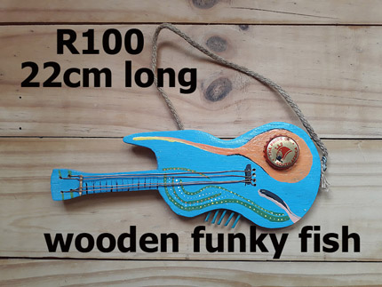 wooden fish decor South Africa - 210819A