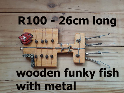 wooden fish decor South Africa - 210819B