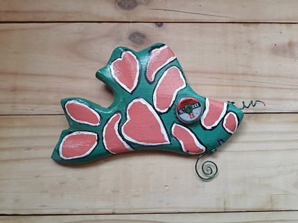 wooden fish wall decor South Africa - 210819E