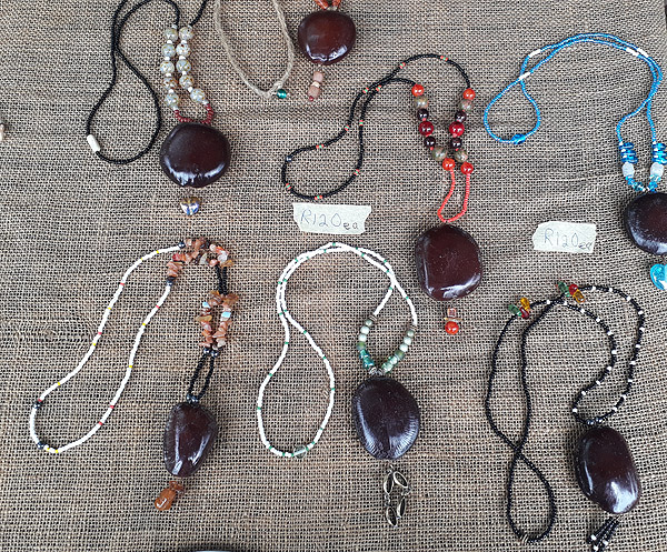 sea bean sea heart necklaces