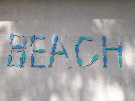 beach word from small decor fish
