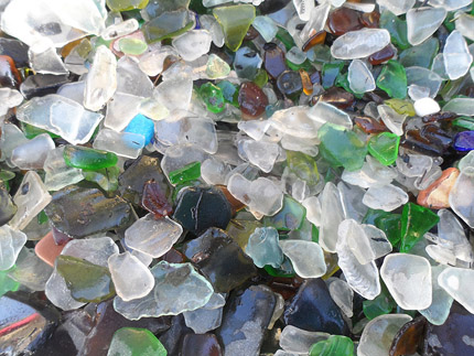 genuine sea glass pieces