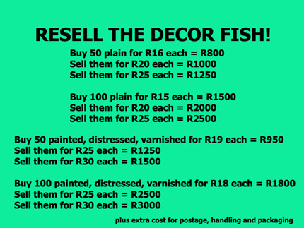 resell decor fish South Africa