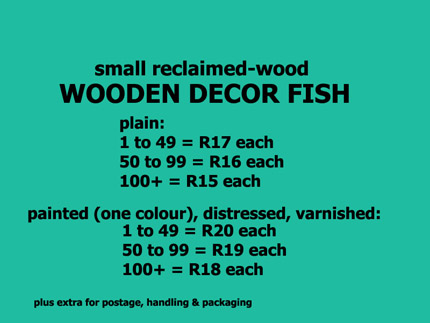 wooden decor fish prices South Africa