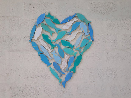 wooden heart wall decor South Africa