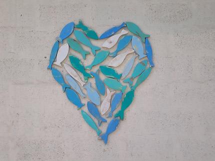 wooden heart wall decor South Africa