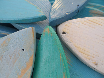 wooden nautical decor South Africa pastels