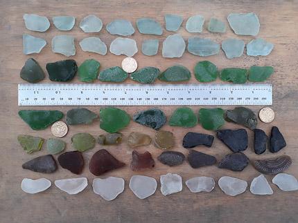 LOT 230320B sea glass mixed colours
